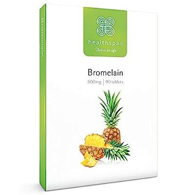 Bromelain | Healthspan | 90 Tablets | 500mg Bromelain Extract | Digestive Enzyme | Pineapple Plant | Vegan