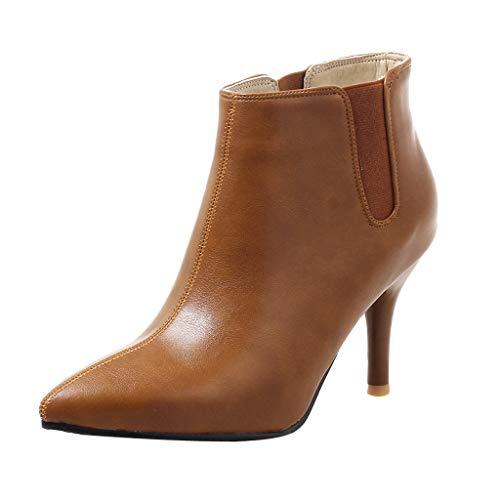 Hombre Zapatillas Botines Mujer Zapatos de Tacón,ZARLLE Sección Delgada Botas,Boots con Cremallera Ocio Botas de tacón de Aguja Otoño e Invierno Botas de Plataforma Impermeables
