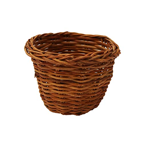 Healifty Dollhouse Basket Mini Wicker Basket Decorative Basket Model 1 12 Scale Dollhouse Crafts