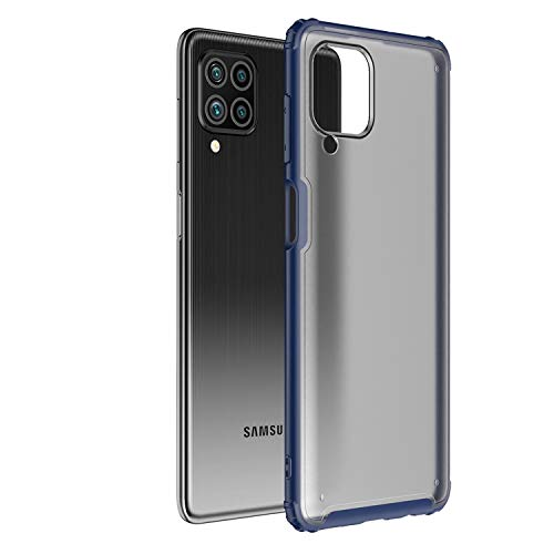 Ultra Hybrid Funda para Galaxy F62, Anti-Choque Bumper Case Caso para Samsung Galaxy F62, Azul