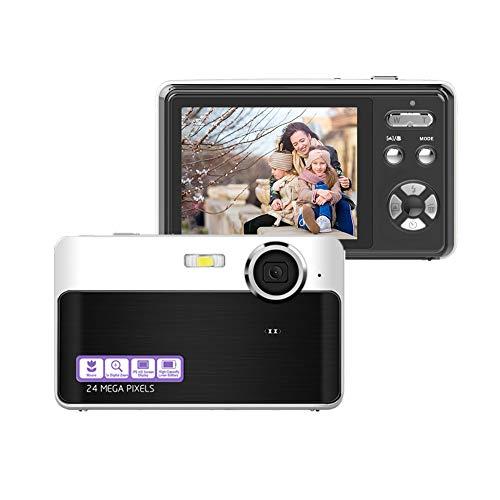 """Cámara digital 24 megapíxeles 2.4 """"LCD HD 1080P Cámaras digitales Cámara de vlogging recargable y compacta"""