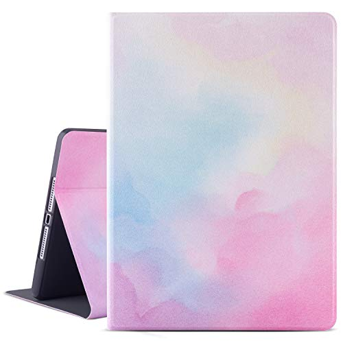 IPad 9.7 2018/2017 Case, Lightweight Smart Case Protector Stand with Auto Sleep/Wake Function, Microfiber Lining, Hard Back Cover Compatible for Apple iPad 9.7 iPad 5th / 6th Generation, Water Color