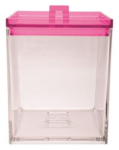 Zak ! Designs Caja APILABLE Transparente/Fucsia 1,4 L. 1213-0220