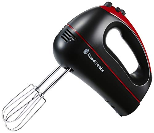 Russell Hobbs 18960 Desire Hand Mixer, 300 W, Black and Red