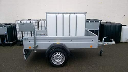 Hofer24 Mobile Weidetränke 1000 Liter mit Staßenzulassung,IBC Tank, schwarz, auf Kunststoffpalette auf Anhänger -eigene Fertigung
