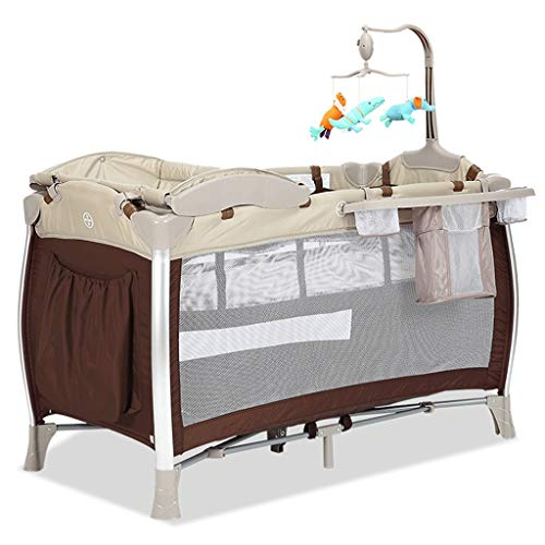Best Review Of Multifunctional Crib Travel Cots for Baby Sleeptight Game Bed Portable Folding with M...