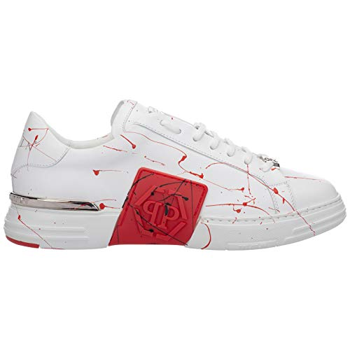 Philipp Plein Hombre Phantom Kick$ Zapatillas White - Red 42 Eu