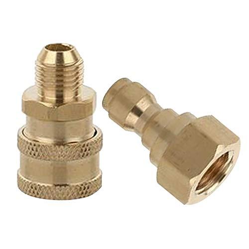 Baoblaze 2 X Messing Hochdruckreiniger Schlauchanschluss Schnellkupplung M14 Stecker Und M14 Buchse