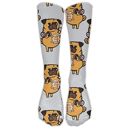 Unisex-Socken mit Brot-Roll-Mops-Motiv, niedlich, lustig, Einweihungsgeschenke, lange Kniestrümpfe für Männer und Frauen