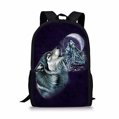 HUGS IDEA Mochila infantil, Wolf5 (Morado) - Y-CC3576C