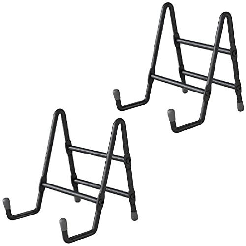 Fugift 2 unids antideslizante marco de fotos titular 4/6 pulgadas placa de metal soporte de exhibición para libro de fotos caballete arte decoración marco titular