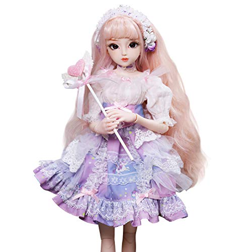 Fortune Days Original Design 18 inch 1/4 Princess Dolls, Diary Queen Series 26 Joints BJD Doll, Best Gift Anime Toys for Girls (Teresa)