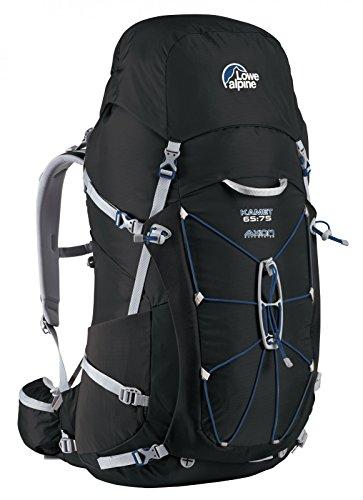 Lowe Alpine Kamet - Mochila de senderismo, color negro, talla Size 65-75