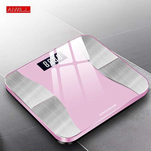 PRWJH Balance intelligente de poids Bluetooth, balance électronique de santé, balance de salle de bain, cadeau pour femme, 180Kg
