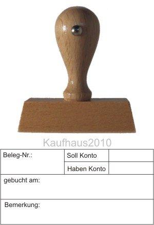 Kontierungsstempel vom Kaufhaus2010