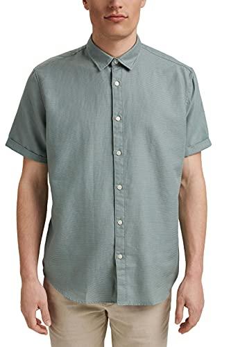 ESPRIT Kurzarm-Hemd aus 100% Organic Cotton