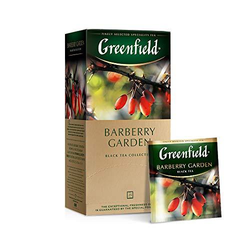 Greenfield Barberry Garden, Aromatisierter Schwarzer Tee, Hibiskus, Berberitze, Kornblume, Vergissmeinnicht, Teebeutel (1,5g x 25), 37,5g