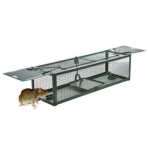 Atrapa animal de la trampa de la jaula del ratón de la criatura humana de 2 puertas para la ardilla listada, las ratas, las ardillas, los campaneros, los roedores y las plagas del tamaño simil