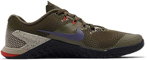 Nike Men's Metcon 4 Training Shoe Olive Canvas/Indigo Burst/Black Size 11.5 D US