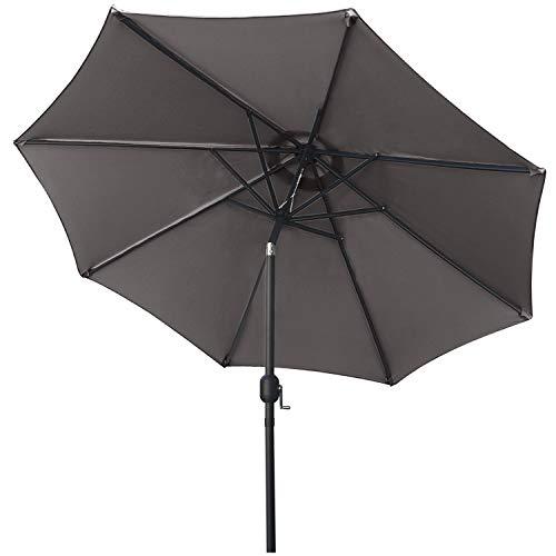 ABCCANOPY Ombrellone con pulsante per l'inclinazione, per il cortile, tavolo, mercato, giardino, terrazza e piscina, 8 stecche, oltre 13 colori, diametro: 19 cm / 22,9 cm / 25,4 cm
