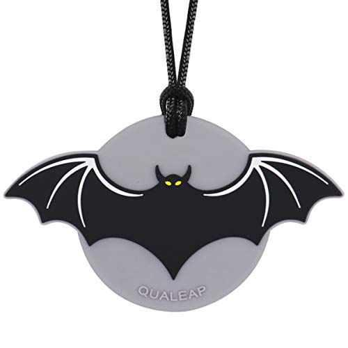 Bat-Man Chew Necklace for Kids, Boys or Girls - Sensory Oral Motor Aids Teether Toys for Autism, ADHD, Baby Nursing or Special Needs- Reduces Chewing Biting Fidgeting for Kids Adult Chewers