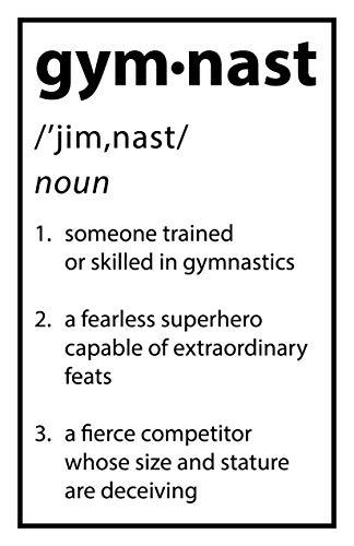 Damdekoli Definition Gymnast Poster - 11x17 Inches