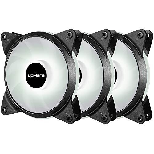 Novonest 120mm 冷却ファン PCケース用 静音タイプ 25mm厚 600-1700rpm±10% PWM 4PIN 白い3本【T4WT4-3】
