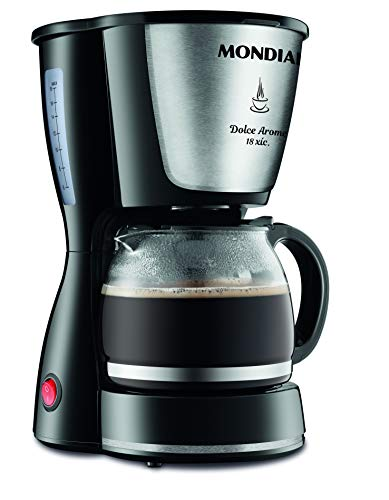Cafeteira Elétrica Mondial, Dolce Arome Inox, 127V, Preto, 550W