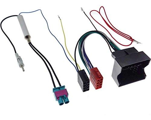 Adaptador doble de Fakra, DIN, conexión fantasma, conector Quadlock