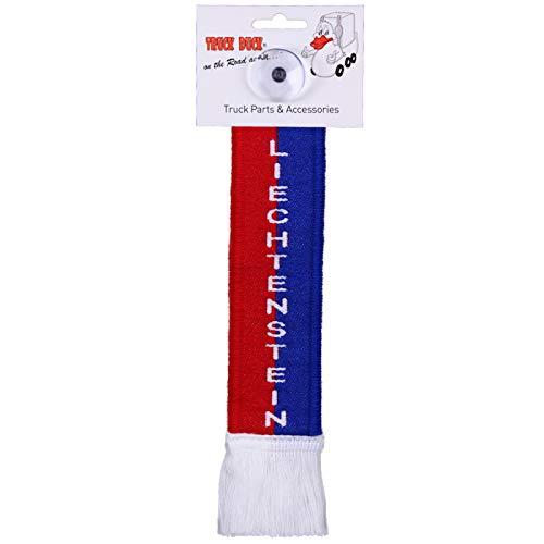 TRUCK DUCK® LKW Auto Minischal Liechtenstein Trucker Mini Schal Wimpel Flagge Fahne Saugnapf Spiegel Deko