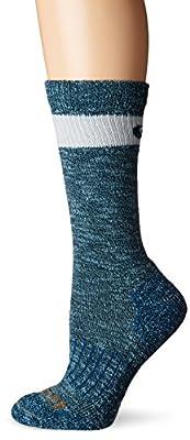 Carhartt womens Merino Wool Crew Casual Sock, Medium Blue, Shoe Size 5-12 US