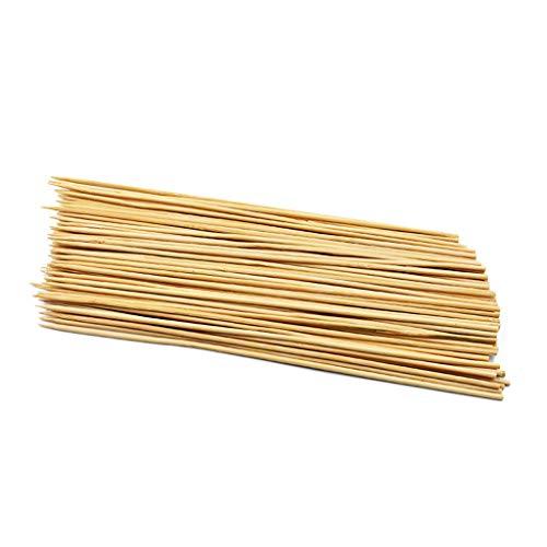 Un-brand Pinchos de bambú para barbacoa, para camping, picnic, uso creativo y útil (100 unidades)