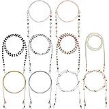 10 Stück Brillenketten Perlen Brillenband Inhaber Gläser Halskette Gurt Auge Glass String für Frauen