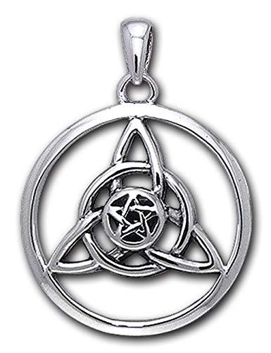 Alterras - Anhänger: Charmed mit Pentagramm im Kreis aus 925-Silber