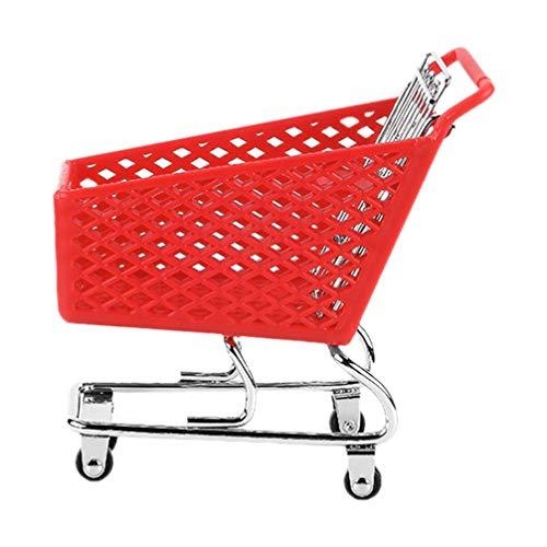 Cabilock Mini Carrello della Spesa Giocattolo Supermercato Carrello a Mano Carrello di Utilità modalità Carrello di Stoccaggio Giocattolo Colore Casuale