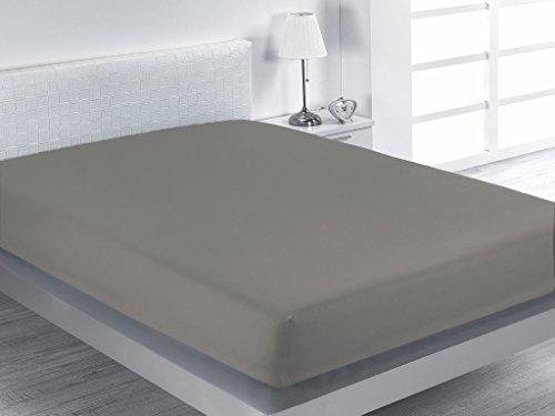 SABANALIA Combina - Bajera Ajustable (Disponible en Varios tamaños y Colores), Cama 105-105 x 200, Gris