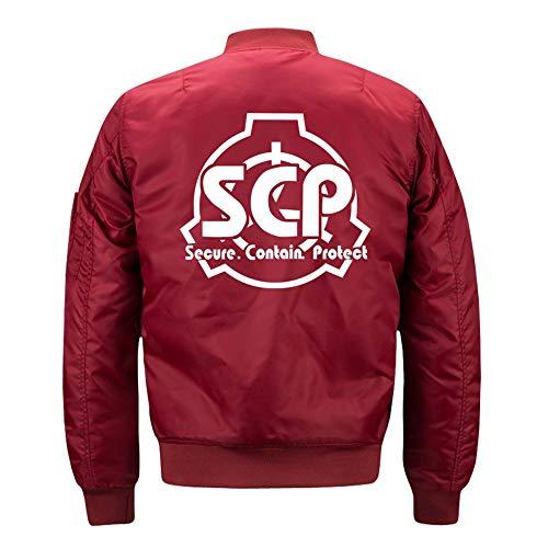 ZYAAO Chaquetas y Abrigos para Hombre SCP Foundation Chaqueta Informal Algodón Jacket,L