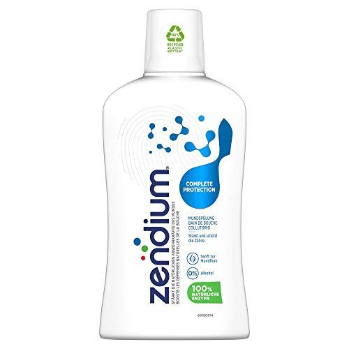 Zendium Bain de Bouche Protection Complète, Mode d'action naturel antibactérien, Renforce les défenses naturelles de la bouche, Formule Sans Alcool, 500ml