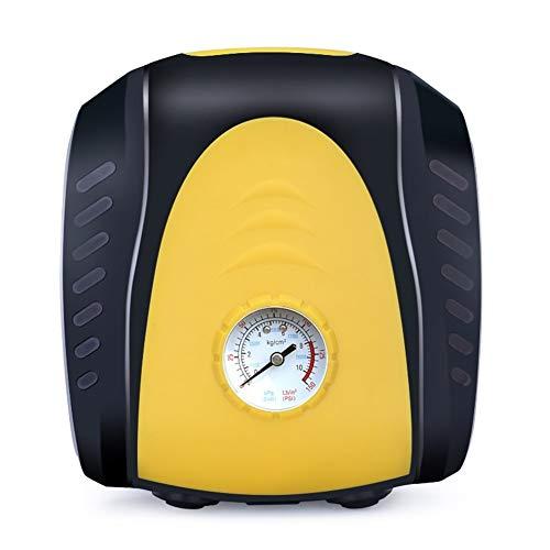 Qilo Neumático del Barra Horizontal de la Bomba portátil de compresor de Aire con Bomba de Aire 12V for Neumáticos de la Bicicleta de la Motocicleta de la Bola (Color : Negro)