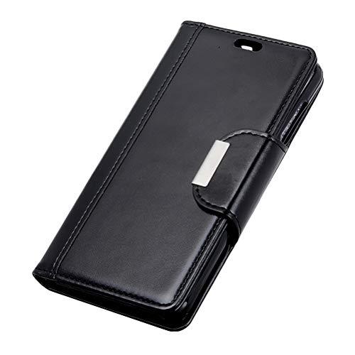 Glatt Premium-PU-Lederhülle für ASUS ZenFone Live L1 (ZA550KL), Muschelschale staubdicht Dauerhaft Brieftasche Kartenhalter Hülle Magnetverschluss Stoßfeste Schutzhülle für ZenFone Live L1