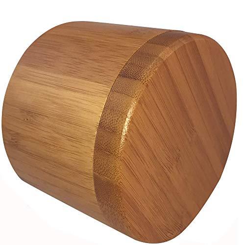 Bambus-Salzbox aus natürlichem Bambus, Aufbewahrungsbox für Gewürze, Salzbehälter mit magnetischem Drehdeckel