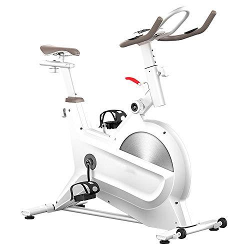 Tbaobei-Baby Indoor-Heimtrainer Indoor Haushalt Upright Sport Bike Flüsterleises Fitness Bike Training Auto Heimtrainer und Bauch Fitness Coach Übung Cycling Bike (Color : White, Size : 110x110x45cm)