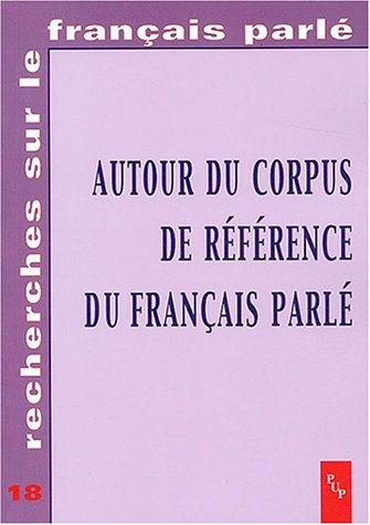 Autour du Corpus de référence du français parlé