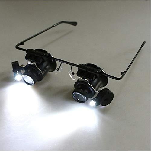 QINGJIA LED se Enciende 20 Veces de la Lupa de Vidrio, vidrios, joyería, reparación de Relojes Lupa Binocular Herramientas Herramienta de reparación Lectura/Obeservación/Reparación