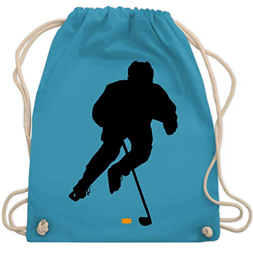 Shirtracer Eishockey - Eishockey Spieler - Unisize - Hellblau - geburtstag eishockey - WM110 - Turnbeutel und Stoffbeutel aus Baumwolle
