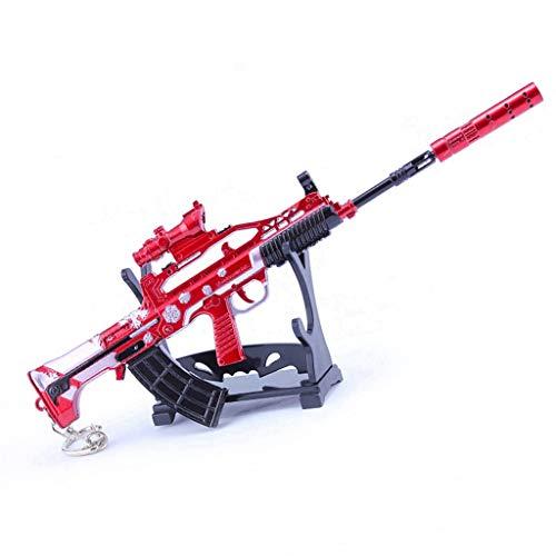 Juego de pistola de juguete de 21 cm. Juguete de metal QBZ para rifle de asalto modelo de arma, llavero para decoración de fiestas, accesorios de personajes, regalos creativos