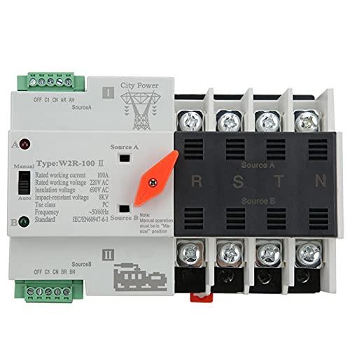 Interruptor de transferencia de energía de estructura compacta Interruptor de transferencia automático W2R-100 Interruptor de transferencia para caja de distribución PZ30