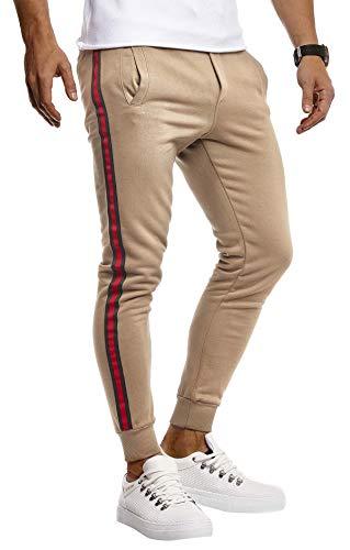 Leif Nelson Gym – Pantaloni da uomo per il tempo libero, da jogging, allenamento, fitness, bodybuilding, modello cargo, lunghi, colore nero, LN8000 marrone chiaro XXL