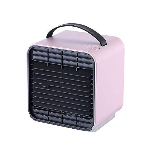 Scra AC Ventilador De Aire Acondicionado De Ión Negativo PM2.5 Ventilador De Mesa Limpio Conveniente Silencioso Ventilación Luz De Aire Acondicionado Ventilador Nocturno (Color : Pink)