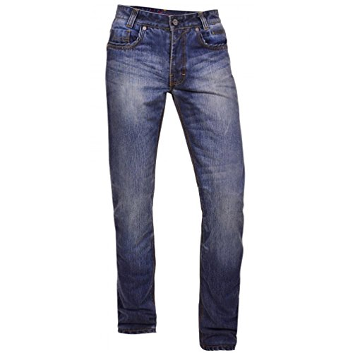 King Kerosin Herren Kevlar Jeans Hose - Speedhawk DP Double Protection W32 / L34